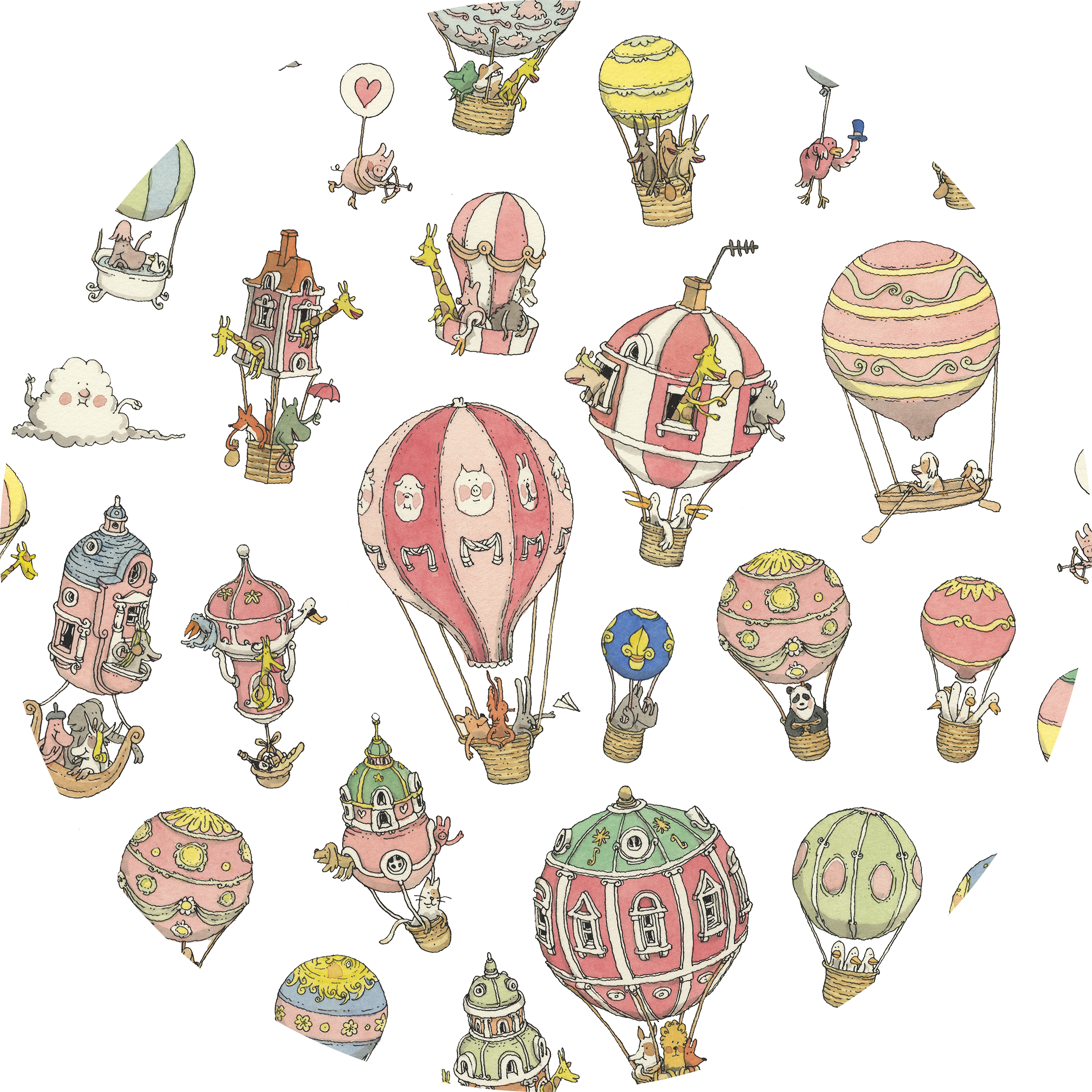 Friends Family Tree: HOT AIR BALLOONS + FRIENDS & FAMILY