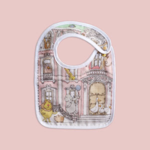 SMALL BIB - MONCEAU MANSION- GOLD SNAPS