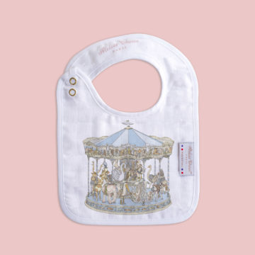 Small bib Carousel Blue